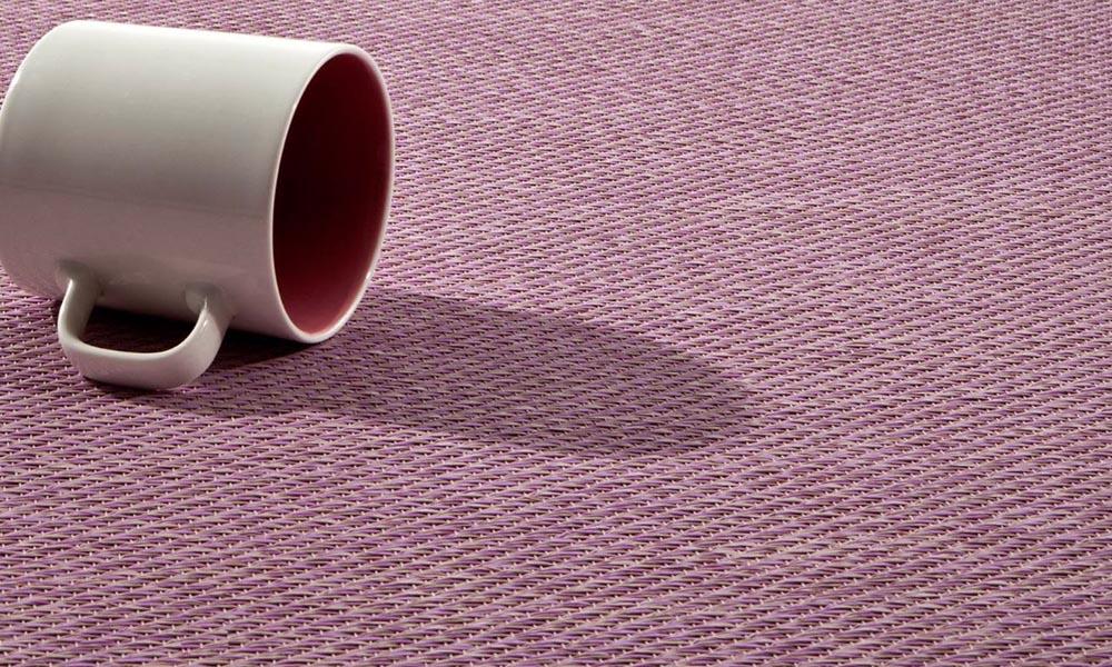Alfombras kp keplan color rosa con una taza de café