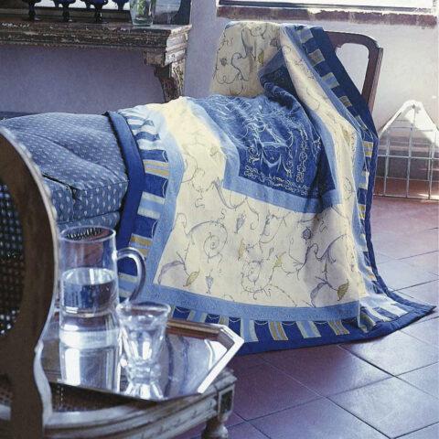 plaid oplontis azul grandfoulard Bassetti