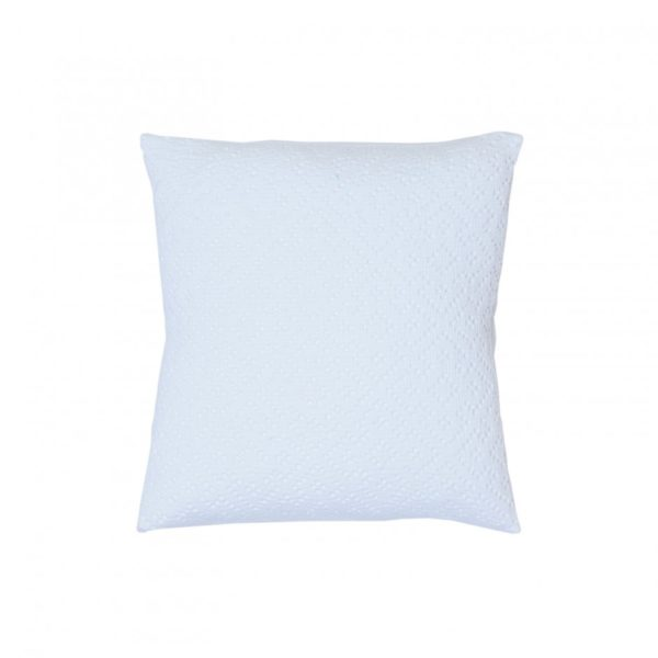 Cojin adele vivaraise crochet color blanco 45x45. Cojin sobre fondo blanco. 940x940