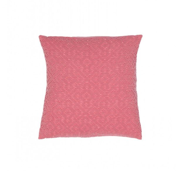Cojin adele vivaraise crochet rosa 45x45 cm