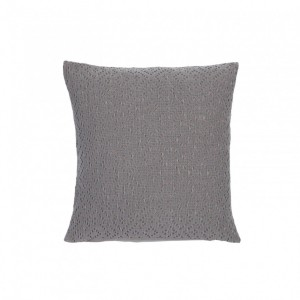 Cojin adele vivaraise crochet liso gris 45x45. Cojín sobre fondo blanco. 940x940