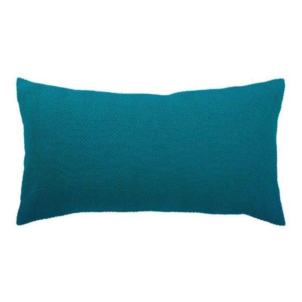 Cojin boris vivaraise color azul. Cojin sobre fondo blanco.