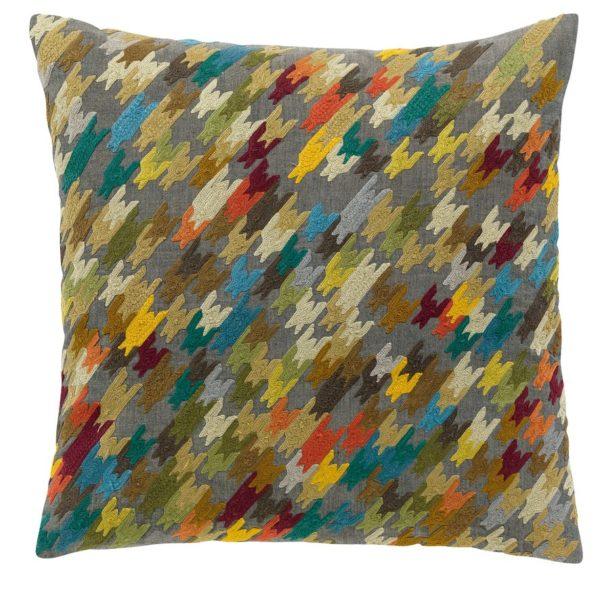 Cojín bordado multicolor vivaraise