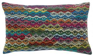 Cojín bordado lineal vivaraise
