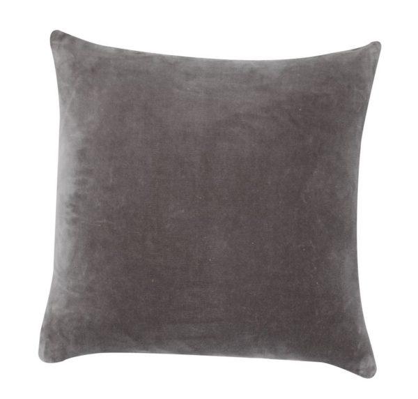 Cojin lisa vivaraise gris 45cmx45cm. Cojin sobre fondo blanco. 800x798