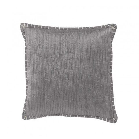 Cojin robin vivaraise en color gris de 45cm x 45cm. Cojin sobre fondo blanco. 940x940