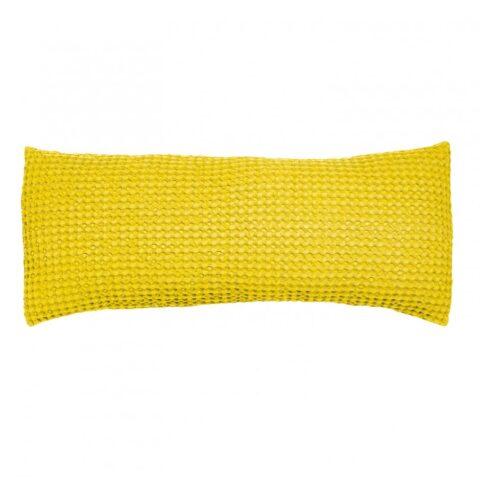 cojin vivaraise naga textura nido de abeja color amarillo sobre fondo blanco 940 x 940