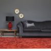 salón con sofa chester y alfombra moderna takto de kp alfombras a medida