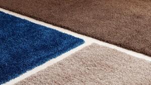detalle ampliado de tres alfombras de pelo largo happy luxe de kp alfombras a medida