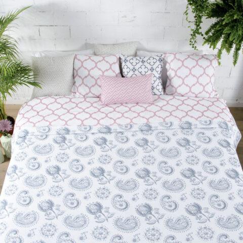 Bouti colcha paisley para cama
