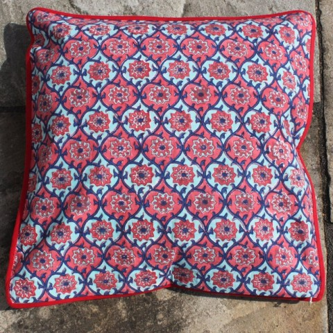 Coj n blockprint dolce vita masaso fern ndez textil - Cojines indios ...