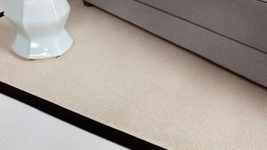 alfombra de lana haiku de kp con remate de 6 cm en color negrop