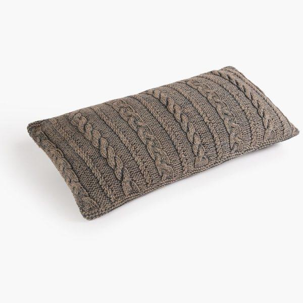 Cojin algodon laman gris