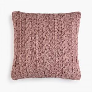 Cojín algodón laman rosa palo