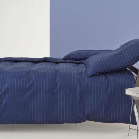 funda nordica algodon satinado zucchi pin stripe azul