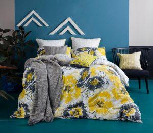 Ambiente con cama vestida con funda nórdica Kas australia Alicia
