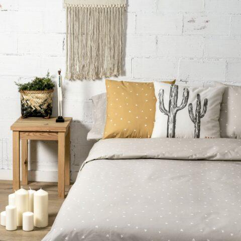 Ambiente con cama vestida cin funda nórdica sisomdos guadalupe