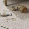 novillos de cuerda sobre alfombra de lana nakar kp alfombras a medida