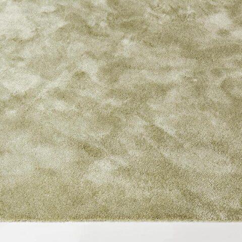 alfombras suaves peluxe brillo con huellas y pisadas en color oro