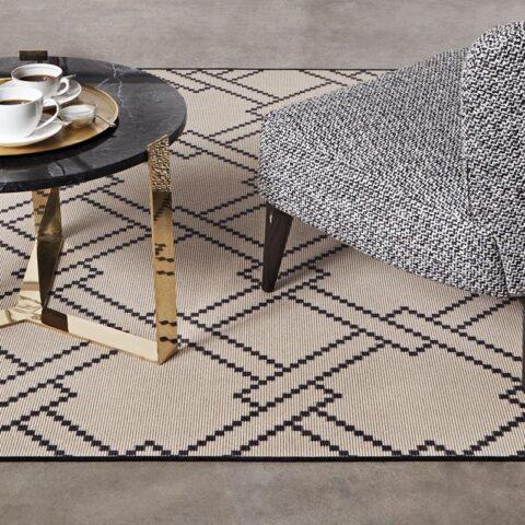 alfombras geométricas de kp de lana muy finas