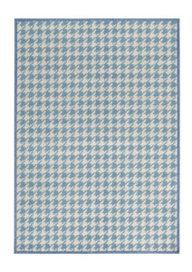 alfombras de diseño geometrik kp pata de gallo color azul