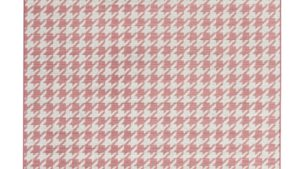 alfombras de diseño geometrik kp pata de gallo color rosa