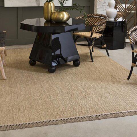 alfombras de sisal hebi kp alfombras a medida con flecos en un salón
