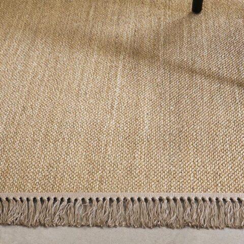 alfombra de sisal hei de kp alfpmbras a medida en color natural con flecos