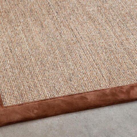 alfombras de sisal kappa kp alfombras a medida con remate marrón