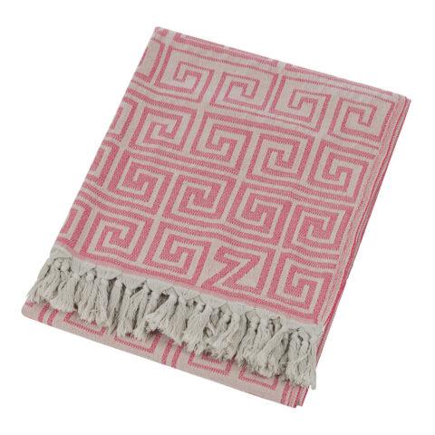 plaid de algodón rosa
