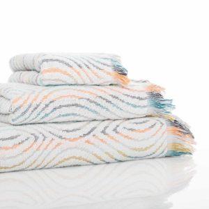 juego toallas geo doblada