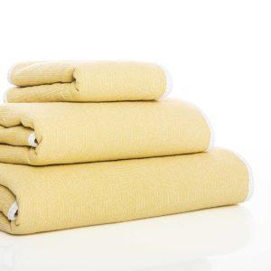 juego de toallas de baño graccioza double color amarillo