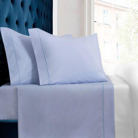 Juego de sábanas bassols paris en color azul celeste