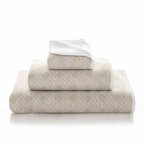 juego de toallas de lino y algodón