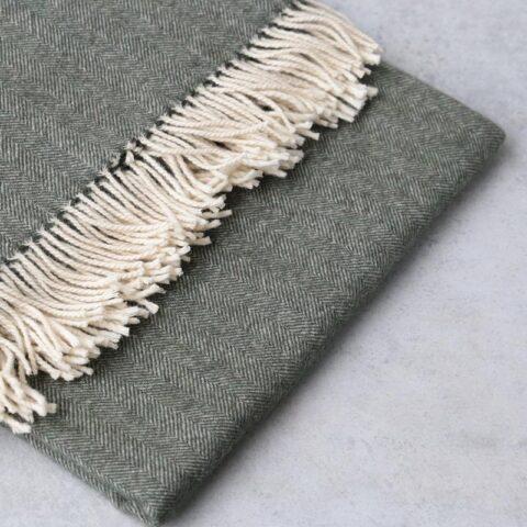 manta de lana grazalema color grey