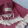 Manta de lana grazalema color burdeos