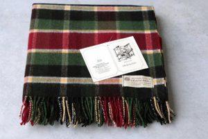 Manta de lana grazalema cuadro ingles
