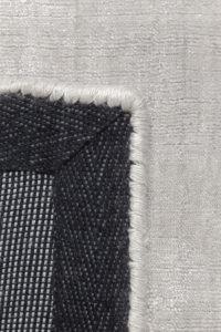 Reves de la alfombra ligne pure glow color plata