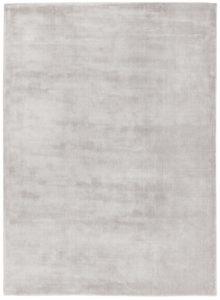 vista panorámica de alfombra doblada ligne pure color plata