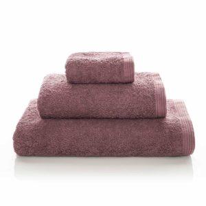 juego de toallas de baño sorema new plus color marsala