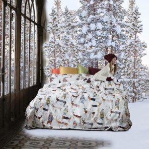 ambiente con Cama vestida con funda nordica de tissitya toscana telaire polar de algodon percal