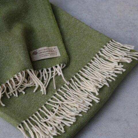 manta de lana grazalema verde
