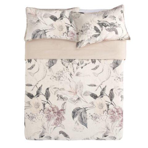 Vista panorámica de cama vestida con funda nórdica kas australia yarra