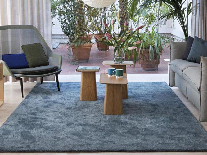 Ambiente con alfombra kp musgo