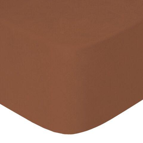 Sábana bajera tela de camiseta color cobre