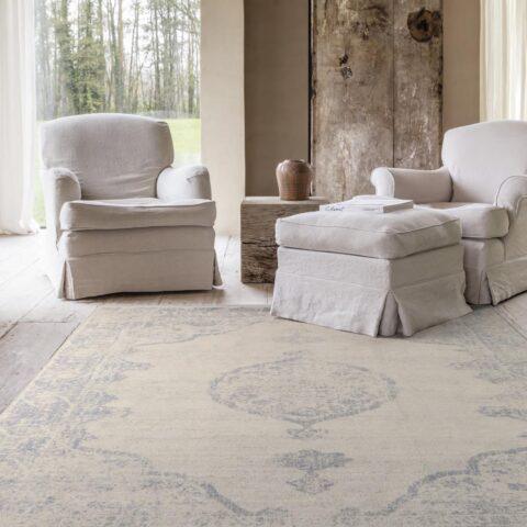 Salón con alfombra Osta Djobie 45.68.621