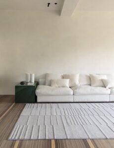 Sala de estar con alfombra osta flux 46103.AE121