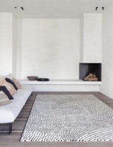 Salón con alfombra Osta Ink 463.07.AF100