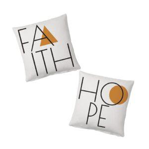 Cojínes Faith&Hope de Sisomdos